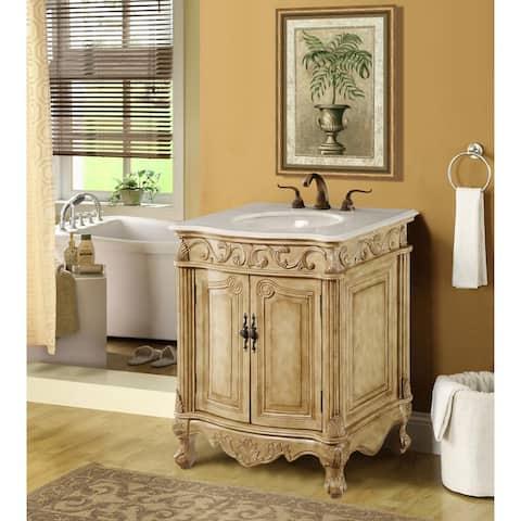 Dallas 27 in. Single Bathroom Vanity Set with Marble Top
