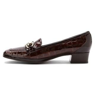 Amalfi by Rangoni Womens Matta Leather Square Toe Loafers