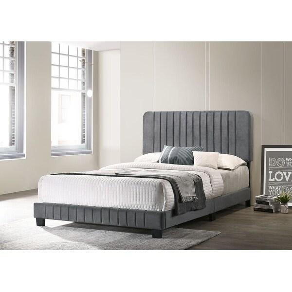 Lodi Upholstered Tufted Velvet Bed. Opens flyout.