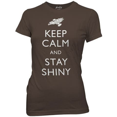 Firefly Keep Calm and Stay Shiny Juniors T-Shirt