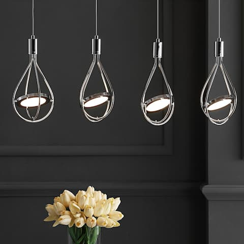 "Orion 29"" Adjustable Integrated 4-Light Pendant, Chrome by JONATHAN Y"