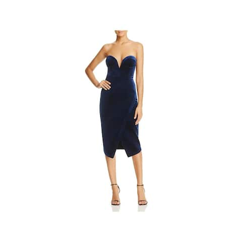 Yumi Kim Womens Cocktail Dress Velvet Asymmetric