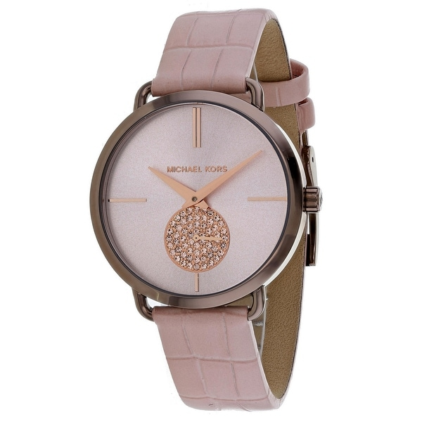 bdd446c3cf3c Shop Michael Kors Women s Portia Rose Gold Dial Watch - Free Shipping Today  - Overstock - 25735081