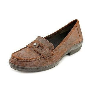 David Tate Womens Lauren Leather Distressed Loafers