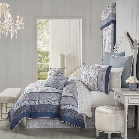 Royal Court Chelsea Blue Comforter Set