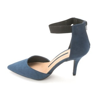 New Directions Womens TREASURE Pointed Toe Ankle Strap D-orsay Pumps