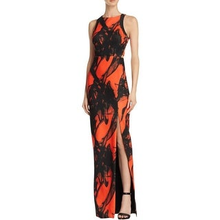 Bariano Womens Evening Dress Printed Strappy Back