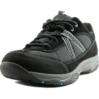 Easy Spirit Porting Women Round Toe Suede Black Walking Shoe