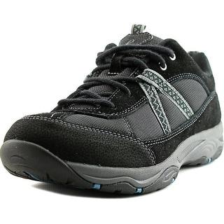 Easy Spirit Porting Women W Round Toe Suede Black Walking Shoe