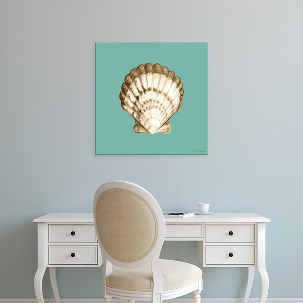 Easy Art Prints Megan Meagher's 'Shell on Aqua III' Premium Canvas Art