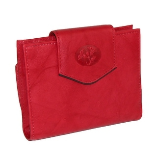 Buxton Women's Leather Attache Clutch Cardex Wallet and Coin Purse - One Size