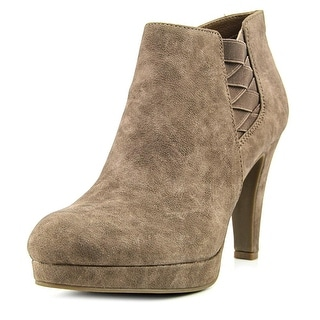 Unlisted Kenneth Cole Film Watch Women  Round Toe Synthetic Tan Ankle Boot