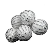 6 December Diamonds White and Silver Shatterproof Christmas Ball Ornaments 3.75""