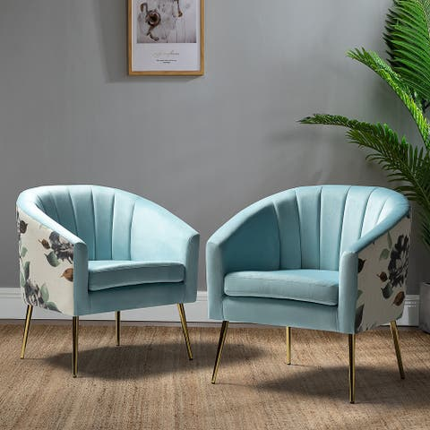 Aiago Barrel Chair Set of 2 for Living Room