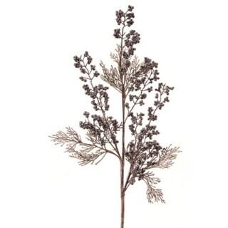 """31"""" Artificial Antique and Plum Cedar and Berries Christmas Spray"""