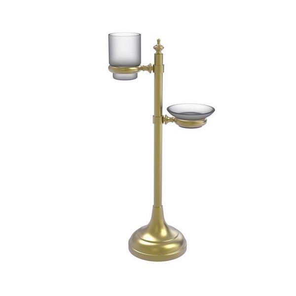 Shop Allied Brass Vanity Top Multi Accessory Ring Stand Satin Brass