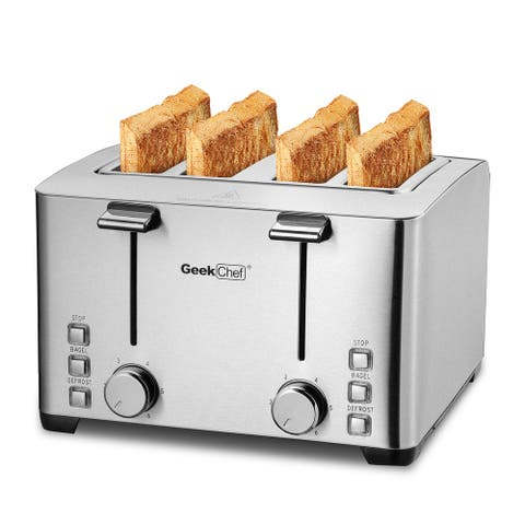 Retro Bagel Toaster with 6 Bread Shade Settings, 4 Extra Wide Slots