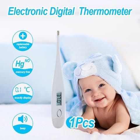 Baby Electronic LCD Medical Thermometer Axilla and Oral Cavity Waterproof for Children Adults