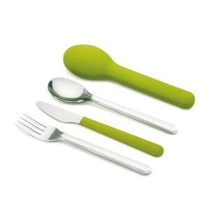 Joseph Joseph GoEat Compact Stainless-Steel Cutlery Set, Green
