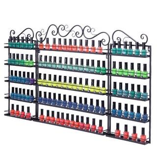 Link to 5 Tier Metal Nail Polish Display Organizer Wall Rack Holder - Black Similar Items in Nail Care
