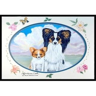 Carolines Treasures 7243MAT 18 x 27 in. Papillon Indoor Outdoor Mat