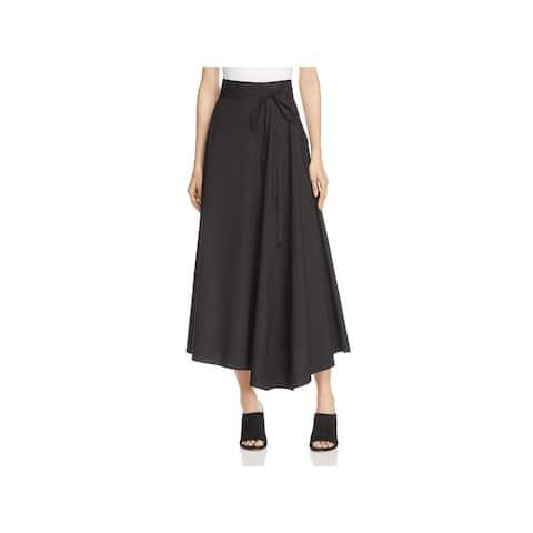 Theory Womens Jaberdina Midi Skirt Poplin Asymmetric
