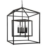 """Park Harbor PHPL5118 24"""" Wide 8 Light Chandelier with Cage Style Frame"""