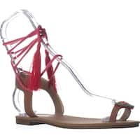 Circus by Sam Edelman Binx5 Toe Ring Lace Up Sandals, Saddle