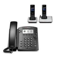 Polycom VVX 310 (2200-46161-025) w/ 2 Wireless Handsets 6-line Entry-Level Business Media Phone with Gigabit Ethernet