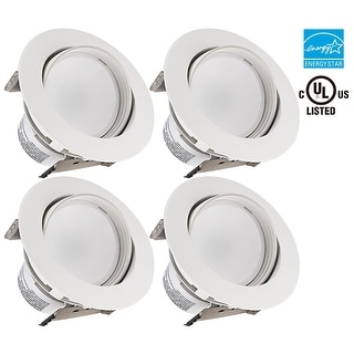 1PACK/4PACK 4-Inch LED Gimbal Recessed Retrofit Downlight,10W/11W Dimmable Directional Ceiling Light Fixture,3000K/5000K