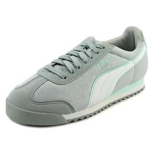 Puma Roma Jersey Women Round Toe Canvas Gray Sneakers