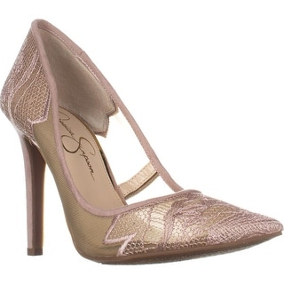 Jessica Simpson Camba Mesh Pointed Toe Pumps, Sheer Nude Blush