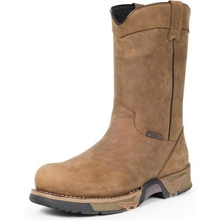 "Rocky Work Boots Mens 11"" Wellington ST Waterproof Brown FQ0006639"