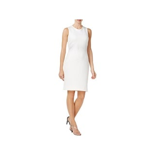 Calvin Klein Womens Scuba Dress Sleeveless Knee-Length