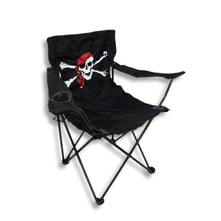 Jolly Roger Skull Folding Camping Chair Pirate