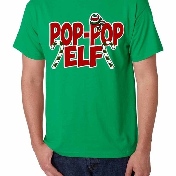 a689a49c Shop Men's T Shirt Pop Pop Elf Ugly Xmas Holiday Family Cute Gift - Green -  On Sale - Free Shipping On Orders Over $45 - Overstock - 23019580