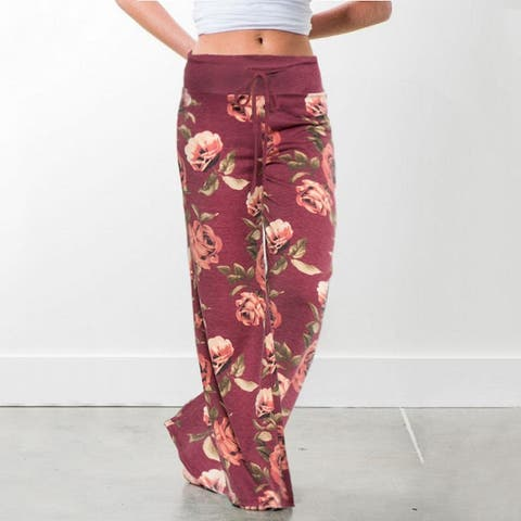 Floral Pants With Rose Print (Variety Of Colors)