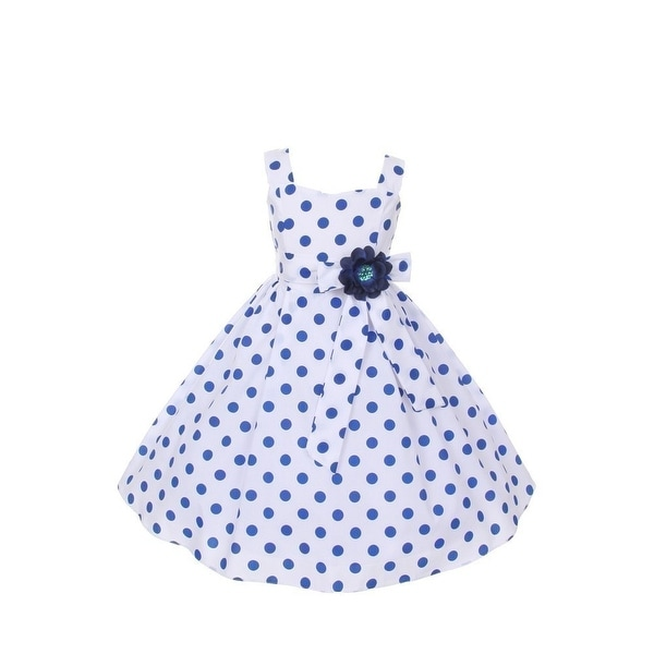 Cinderella Couture Baby Girls Pink White Polka Dot Belted: Shop Cinderella Couture Girls Royal Blue Polka Dots Easter