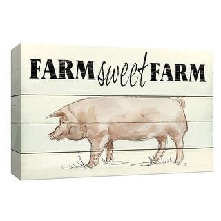 "PTM Images 9-148411  PTM Canvas Collection 8"" x 10"" - ""Farm Sweet Farm"" Giclee Farm Animals Art Print on Canvas"