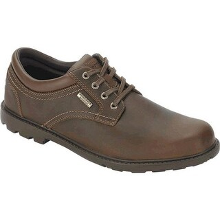 Rockport Men's Rugged Bucks Waterproof Plain Toe Tan Full Grain Leather