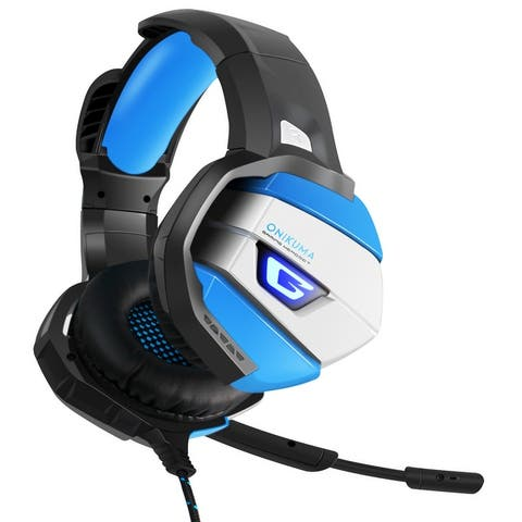 ONIKUMA K5 Stereo Gaming Headset for PS4, PC, Xbox One Controller Over Ear Headphones with Mic, LED Light