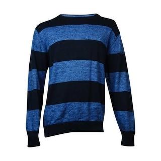 Nautica Men's Striped Crew Neck Marled Knit Sweater (XXL, Windward Blue) - xxl