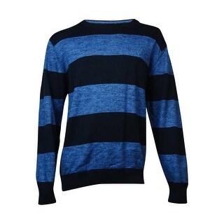 Nautica Striped Crew Neck Marled Knit Sweater (XL, Windward Blue) - XL