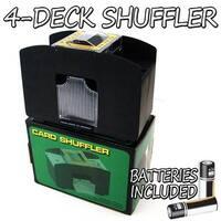 4 Deck Playing Card Shuffler w/ Batteries