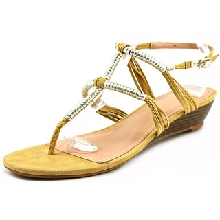 Enzo Angiolini Khanna Open Toe Canvas Wedge Sandal