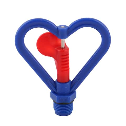 Home Plastic Heart Shaped Plants Irrigation Water Sprayer Sprinkler Head Blue