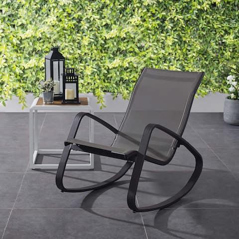 Traveler Rocking Outdoor Patio Mesh Sling Lounge Chair