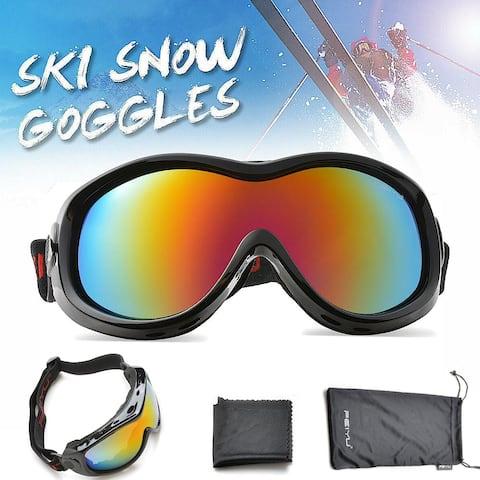 Snow Ski Goggles Anti Fog for Kids Youth Junior Black - SIZE