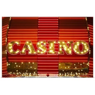 """Casino lights, Las Vegas, Nevada"" Poster Print"