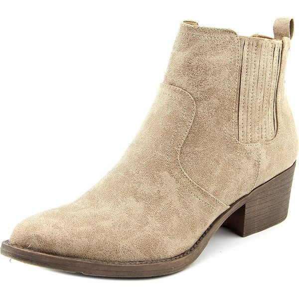 Volatile Hattie Women Pointed Toe Canvas Nude Ankle Boot